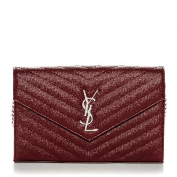 aaf38dd58a7 Yves Saint Laurent Bags | Saint Laurent Wallet On Chain Ysl Monogram ...